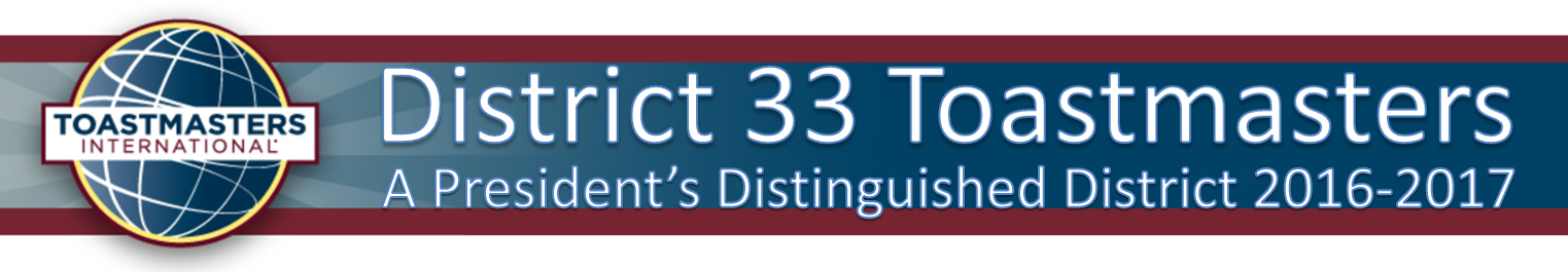 District 33 Toastmasters